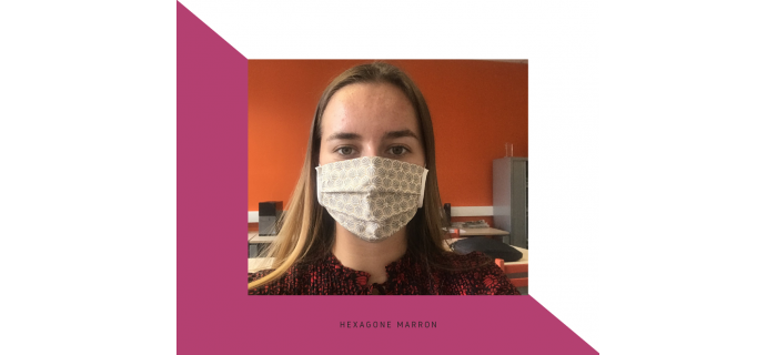 masque hexagone marron